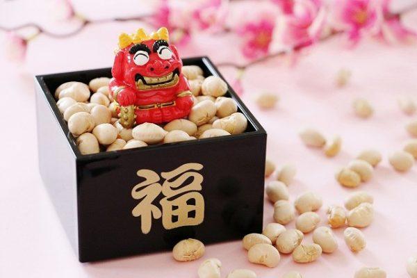 2月3日(日) 「節分の日」福豆・鬼のお面 お配りします。