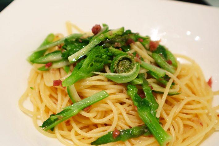 彩り野菜のスパゲッティ