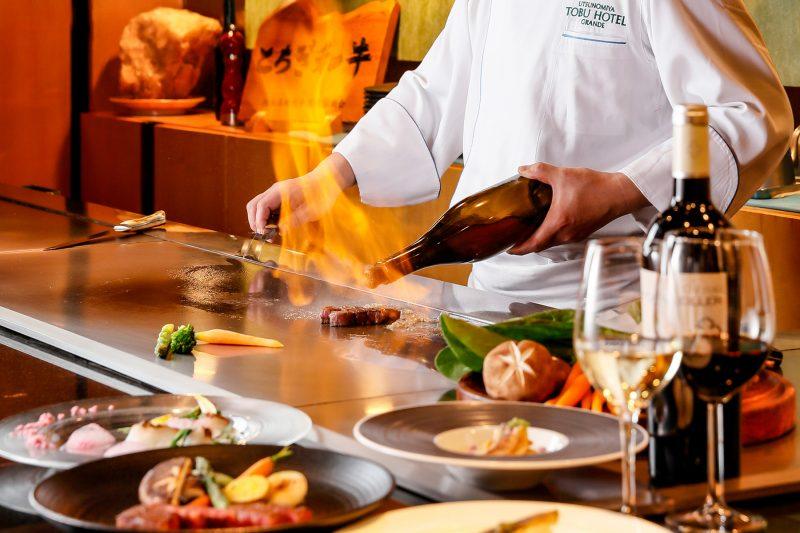 鉄板焼 下野(しもつけ)美食を満喫「とちぎ和牛 シャトーブリアン」を五感でご堪能ください。